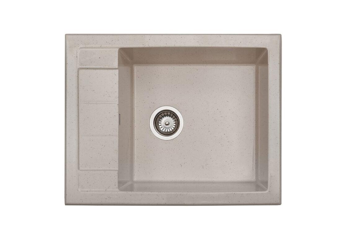 Томсън   Кухненска мивка с ляв/десен плот от полимермрамор   граниктит