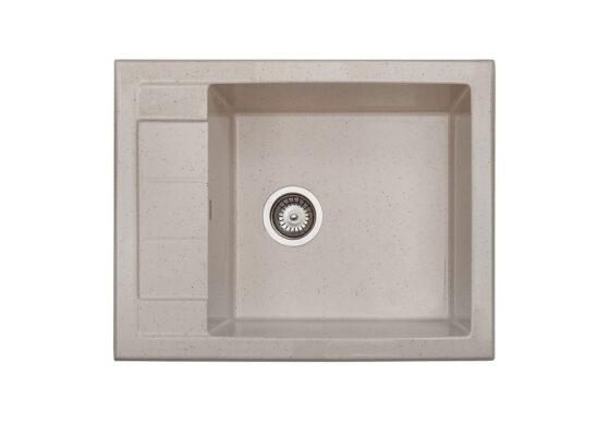 Томсън | Кухненска мивка с ляв/десен плот от полимермрамор | граниктит